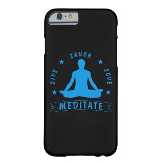 Live Laugh Love Meditate Male Text (blue) Barely There iPhone 6 Case