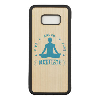 Live Laugh Love Meditate Male Text (blue) Carved Samsung Galaxy S8+ Case