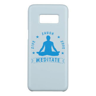 Live Laugh Love Meditate Male Text (blue) Case-Mate Samsung Galaxy S8 Case
