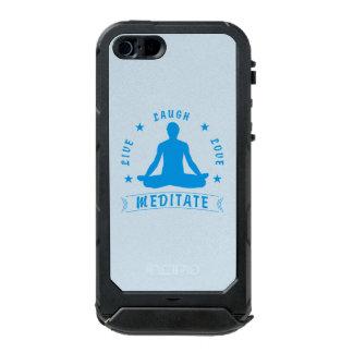Live Laugh Love Meditate Male Text (blue) Incipio ATLAS ID™ iPhone 5 Case