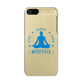 Live Laugh Love Meditate Male Text (blue) Incipio Feather® Shine iPhone 5 Case