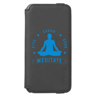 Live Laugh Love Meditate Male Text (blue) Incipio Watson™ iPhone 6 Wallet Case