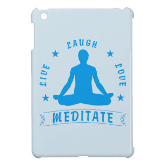 Live Laugh Love Meditate Male Text (blue) iPad Mini Case