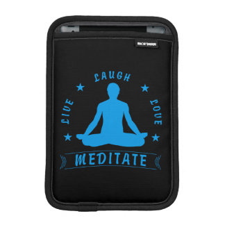 Live Laugh Love Meditate Male Text (blue) iPad Mini Sleeve