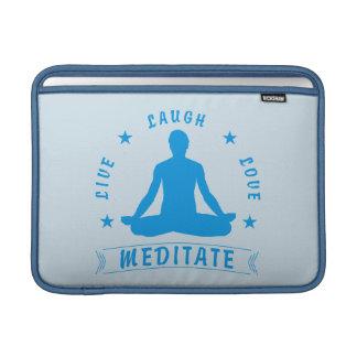 Live Laugh Love Meditate Male Text (blue) MacBook Sleeve
