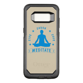 Live Laugh Love Meditate Male Text (blue) OtterBox Commuter Samsung Galaxy S8 Case