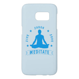 Live Laugh Love Meditate Male Text (blue) Samsung Galaxy S7 Case