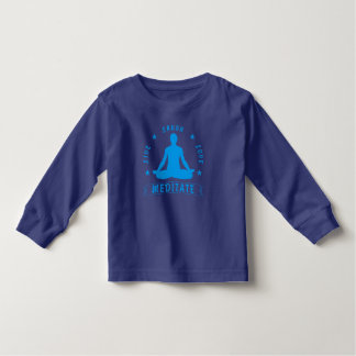 Live Laugh Love Meditate Male Text (blue) Toddler T-shirt