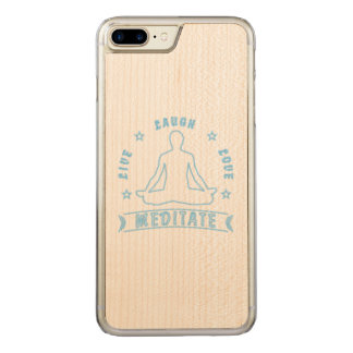 Live Laugh Love Meditate Male Text (neon) Carved iPhone 8 Plus/7 Plus Case