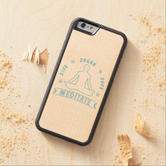 Live Laugh Love Meditate Male Text (neon) Carved Maple iPhone 6 Bumper Case