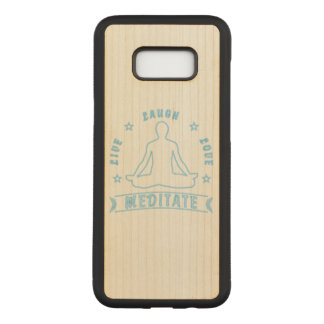 Live Laugh Love Meditate Male Text (neon) Carved Samsung Galaxy S8+ Case