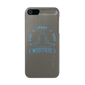 Live Laugh Love Meditate Male Text (neon) Incipio Feather® Shine iPhone 5 Case