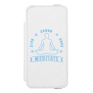 Live Laugh Love Meditate Male Text (neon) Incipio Watson™ iPhone 5 Wallet Case