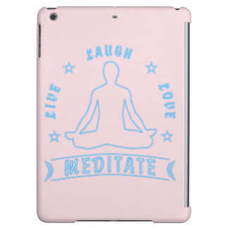 Live Laugh Love Meditate Male Text (neon) iPad Air Cover