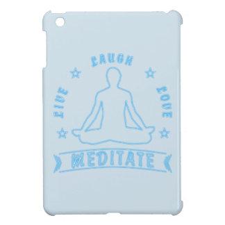 Live Laugh Love Meditate Male Text (neon) iPad Mini Cover