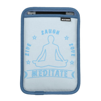 Live Laugh Love Meditate Male Text (neon) iPad Mini Sleeve