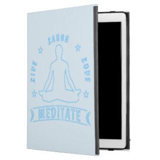 "Live Laugh Love Meditate Male Text (neon) iPad Pro 12.9"" Case"