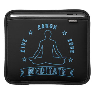 Live Laugh Love Meditate Male Text (neon) iPad Sleeve
