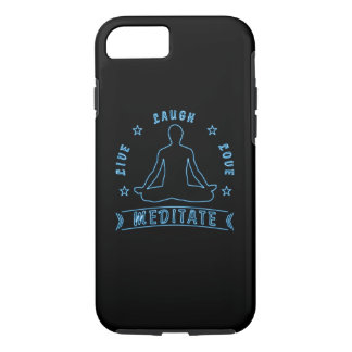 Live Laugh Love Meditate Male Text (neon) iPhone 8/7 Case