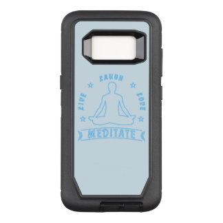 Live Laugh Love Meditate Male Text (neon) OtterBox Defender Samsung Galaxy S8 Case