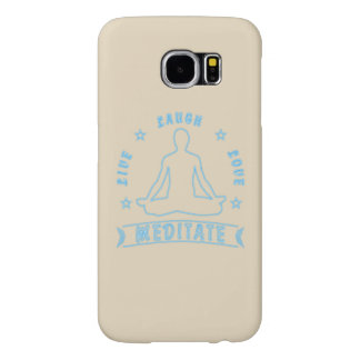 Live Laugh Love Meditate Male Text (neon) Samsung Galaxy S6 Case