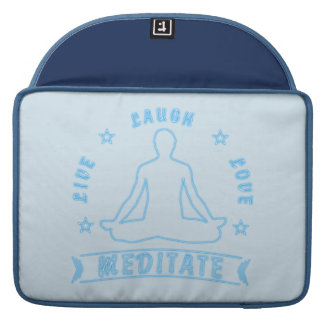 Live Laugh Love Meditate Male Text (neon) Sleeve For MacBook Pro