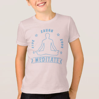 Live Laugh Love Meditate Male Text (neon) T-Shirt