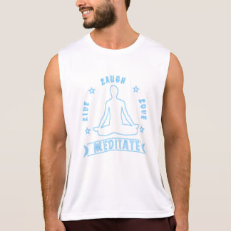Live Laugh Love Meditate Male Text (neon) Tank Top