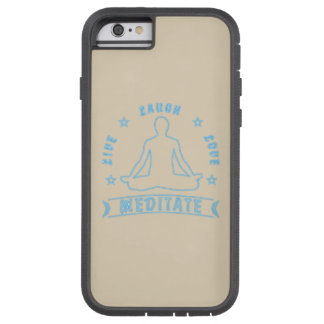 Live Laugh Love Meditate Male Text (neon) Tough Xtreme iPhone 6 Case