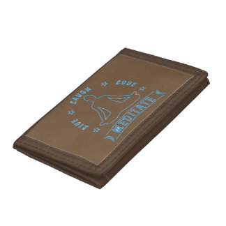 Live Laugh Love Meditate Male Text (neon) Tri-fold Wallet
