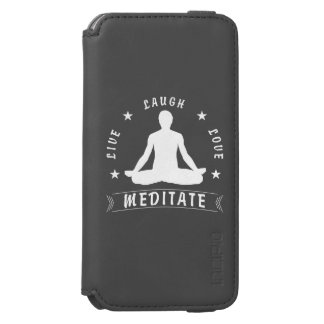 Live Laugh Love Meditate Male Text (wht) Incipio Watson™ iPhone 6 Wallet Case