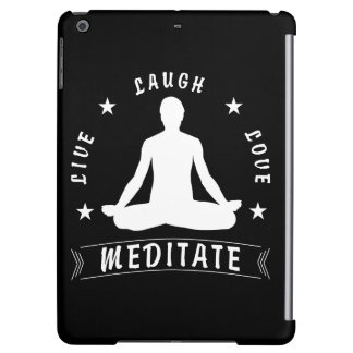 Live Laugh Love Meditate Male Text (wht) iPad Air Case