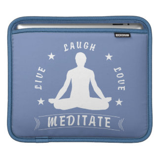 Live Laugh Love Meditate Male Text (wht) iPad Sleeve