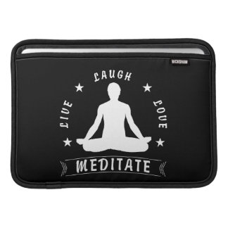 Live Laugh Love Meditate Male Text (wht) MacBook Sleeve