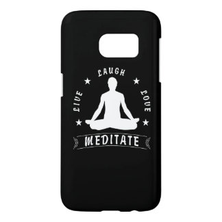 Live Laugh Love Meditate Male Text (wht) Samsung Galaxy S7 Case
