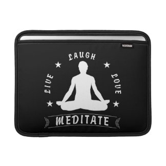 Live Laugh Love Meditate Male Text (wht) Sleeve For MacBook Air