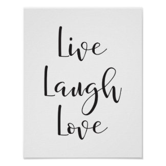 Live Laugh Love, Motivational, Inspirational Print