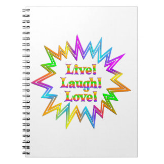 Live Laugh Love Notebooks