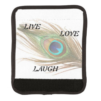 Live Laugh Love Peacock Feather Handle Wrap