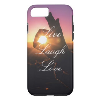 Live Laugh Love Perfect Sunset iPhone Case