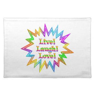 Live Laugh Love Placemat