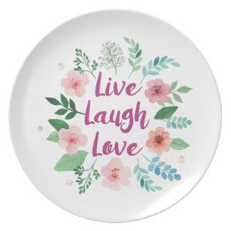 LIVE LAUGH LOVE PLATE