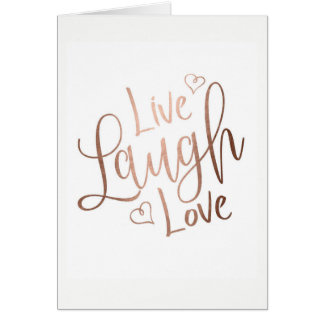 LIVE,LAUGH,LOVE POSTCARD