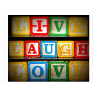 Live Laugh Love Postcard