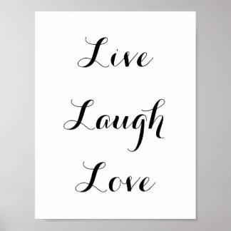 Live - Laugh - Love Poster