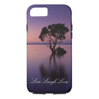 Live Laugh Love Purple Sunset Phone Case