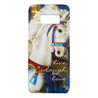 """Live Laugh Love"" Quote White Carousel Horse Photo Case-Mate Samsung Galaxy S8 Case"