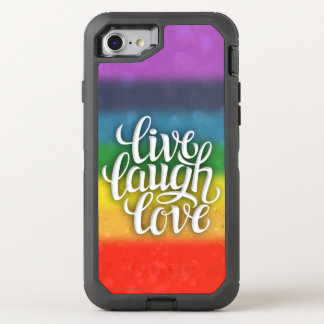 Live Laugh Love Rainbow Otterbox OtterBox Defender iPhone 7 Case