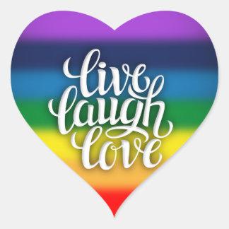 Live Laugh Love Rainbow Sticker