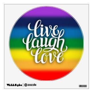Live Laugh Love Rainbow Wall Decal